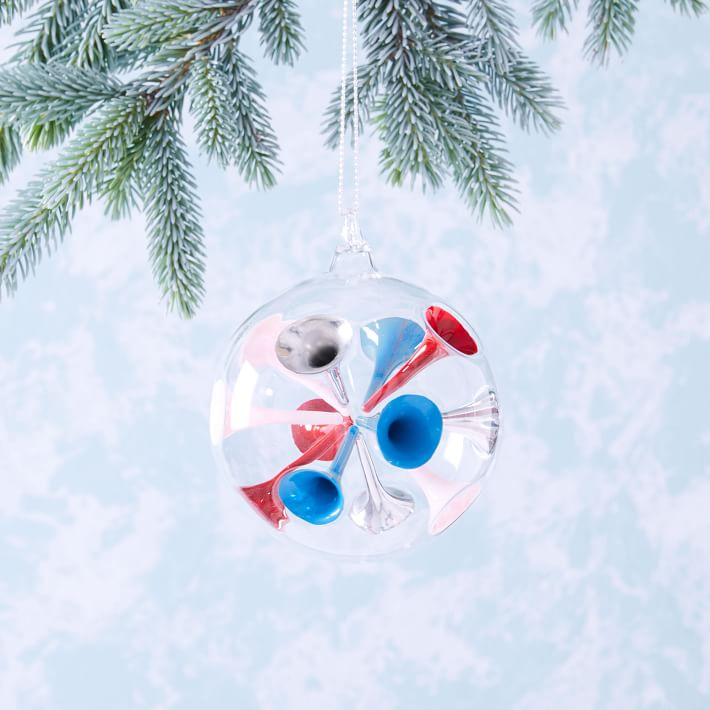 color dot glass modern ornaments