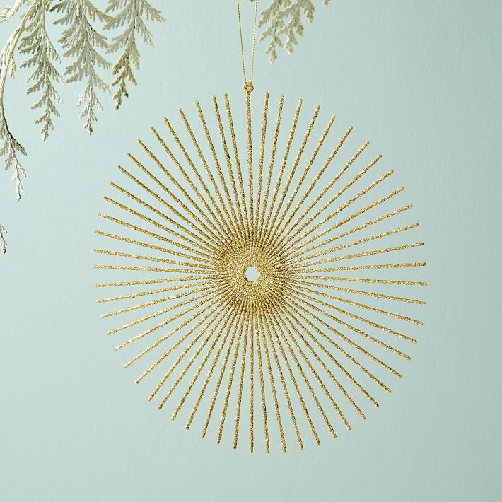 glitter sunburst modern ornament