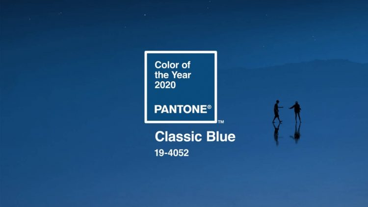 Pantone's announcement for the color of the year in classic blue.