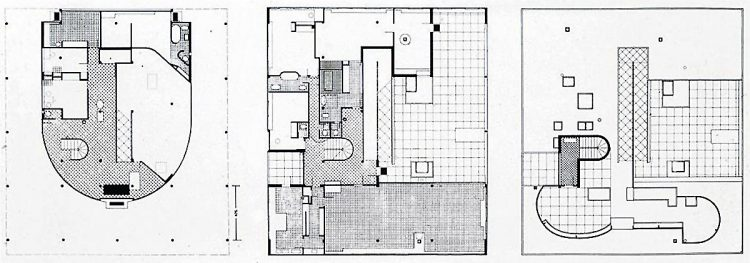 villa savoye blueprint
