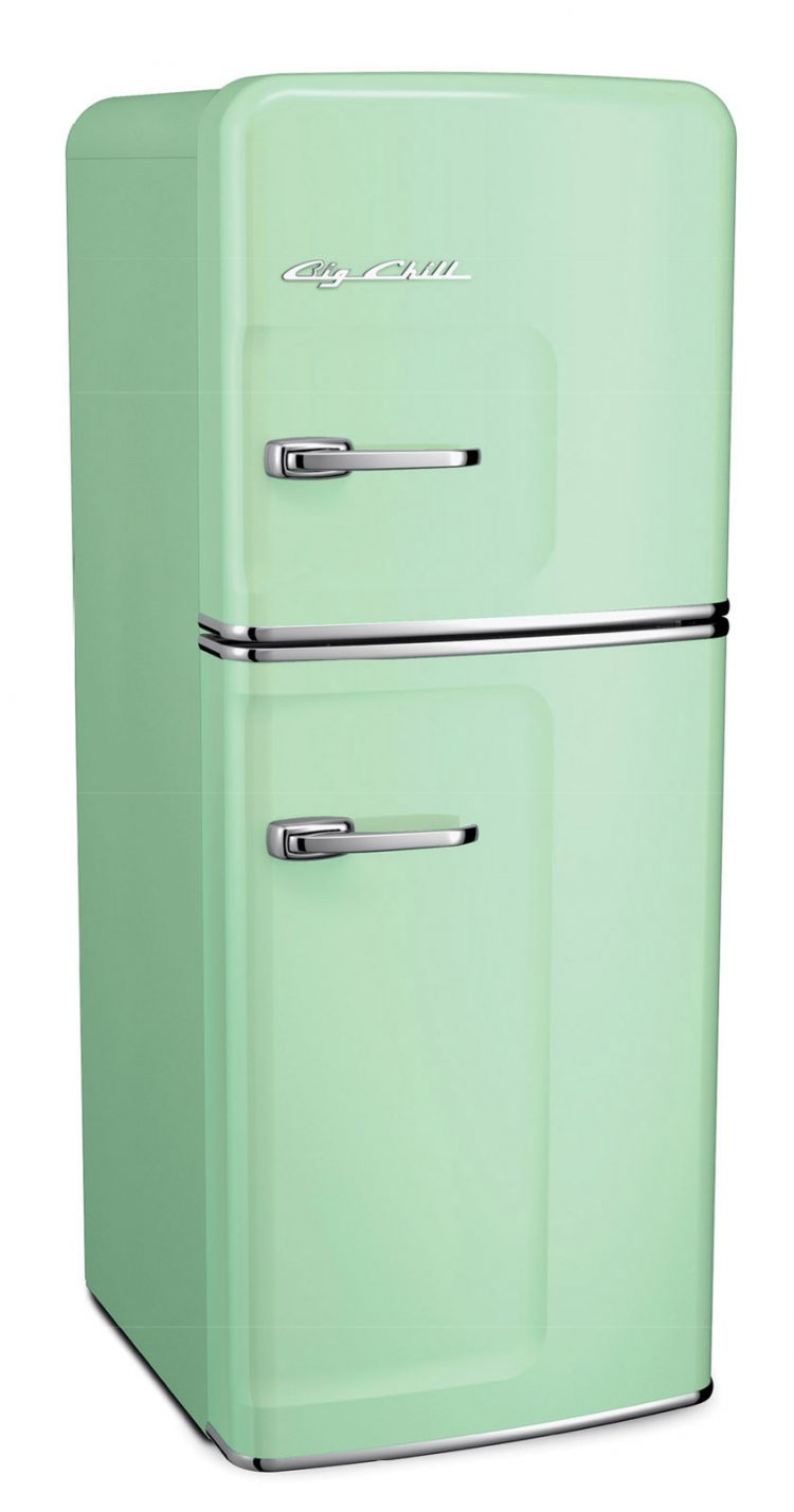 Vintage mint-colored fridge for all mid century kitchens.