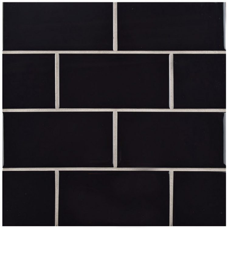 Black subway tiles for all mid century kitchens.