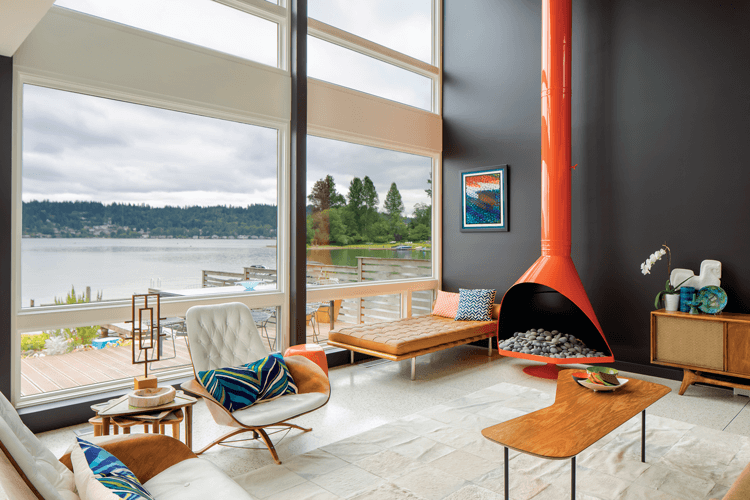 lakehouse mid century modern home tours vacation house