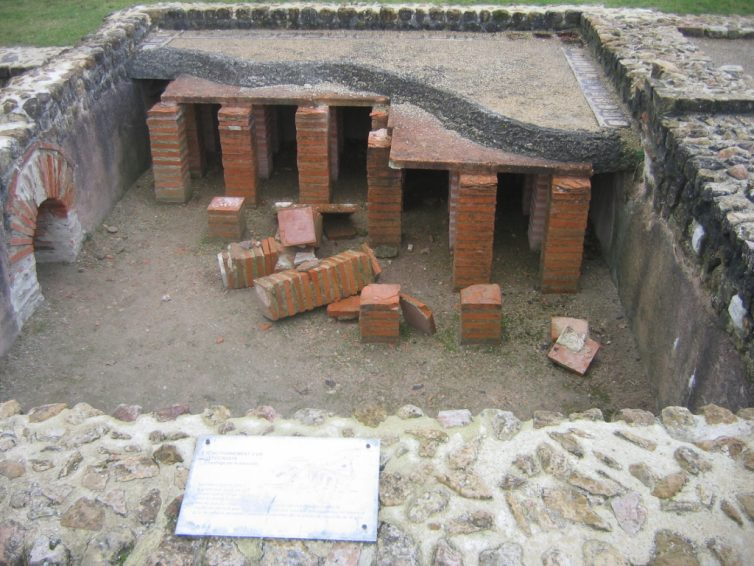 radiant heating in a hypocaust