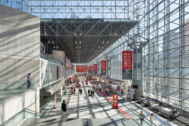 The interior of the Javits Center in New York City