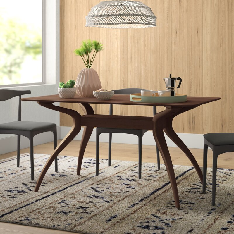 wood midcentury dining table