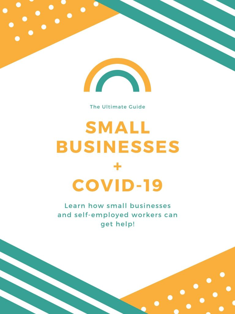 Poster for small business COVID-19 help