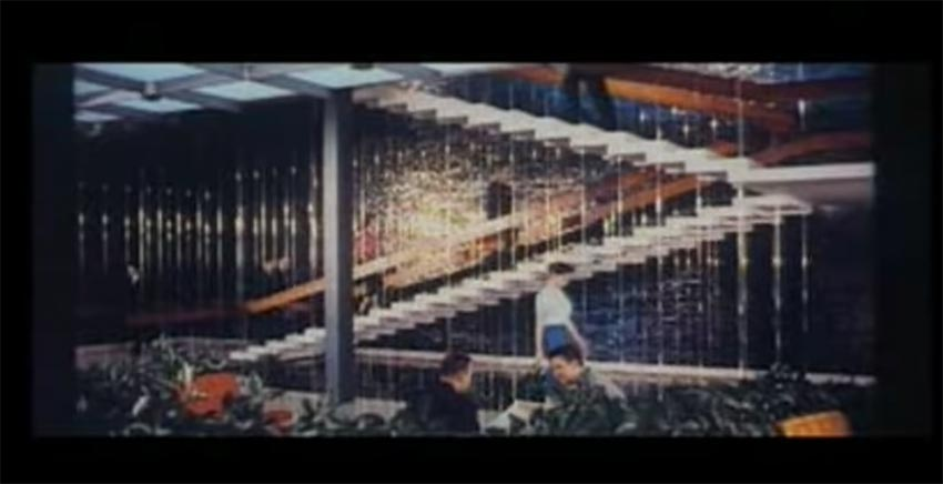 a screen capture of a historical midcentury video of The American Look feature about how modernists design a new product