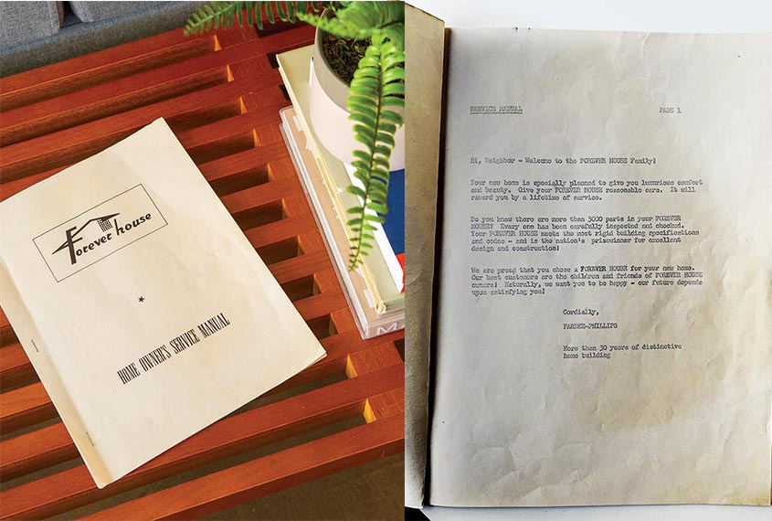 an original fullerton forever booklet with a welcome letter from Pardee Homes