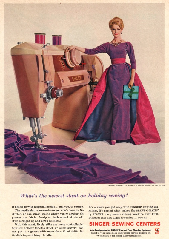 a vintage ad for a 1960 singer sewing machine