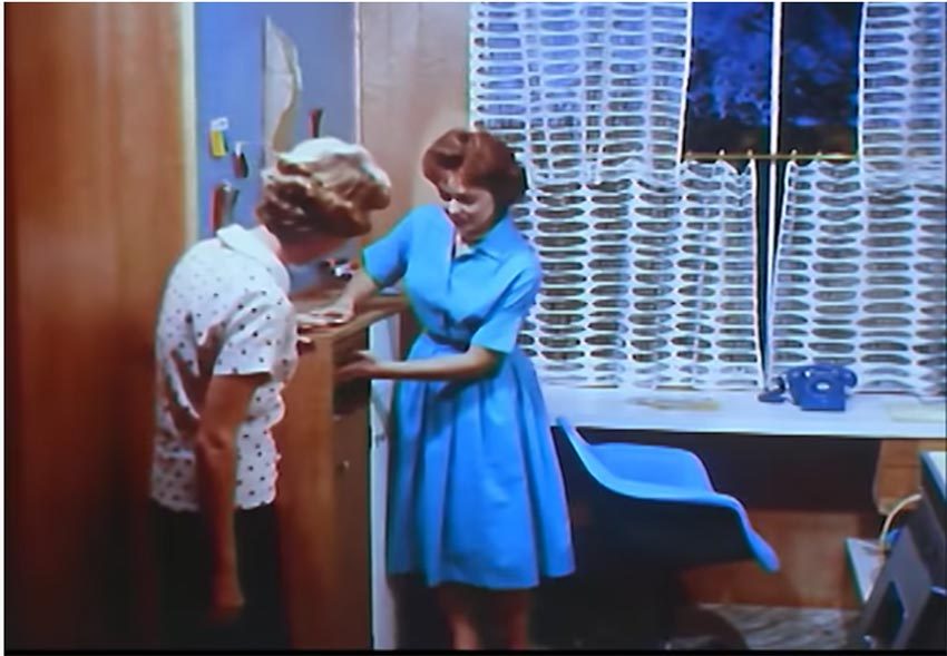 a color still from the westinghouse all electric home promotional videos
