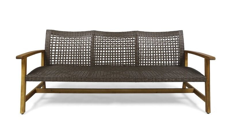 mid century modern patio sofa