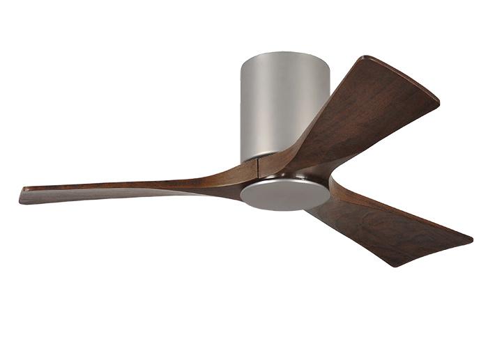modern ceiling fan with walnut wood blades