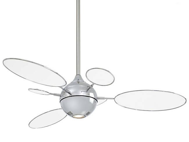 modern ceiling fan with globe shaped fan blades
