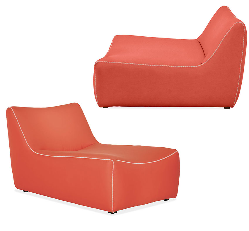 coral amorphous patio sectional
