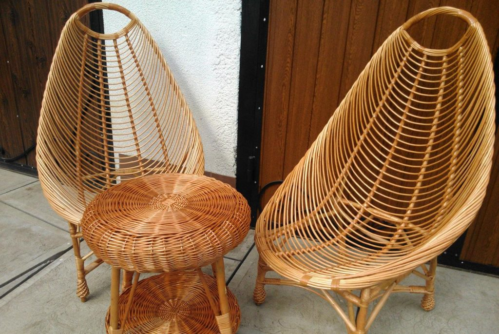 rattan patio furniture armchair style