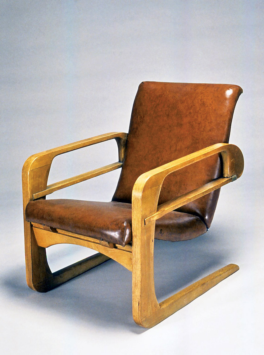 leather airline chair by Kem Weber