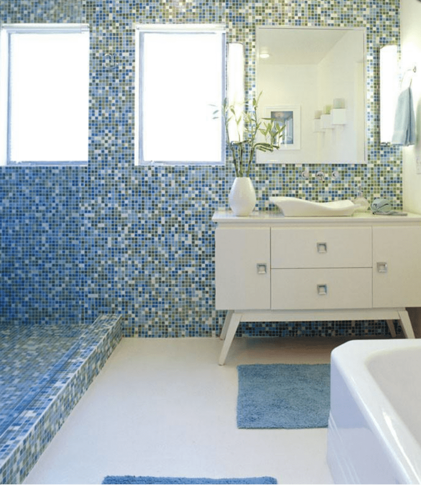 Our Favorite Sources For Mid Century Modern Bathroom Tile - Home