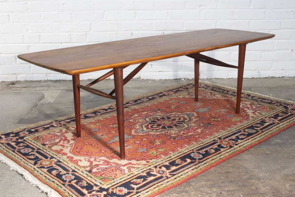 authentic mid century modern danish coffee table