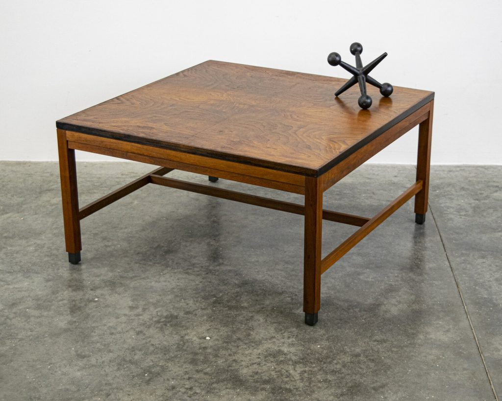 square vintage mid century modern style coffee table