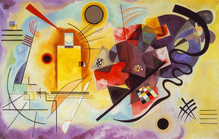 yellow red blue kandinsky bauhaus