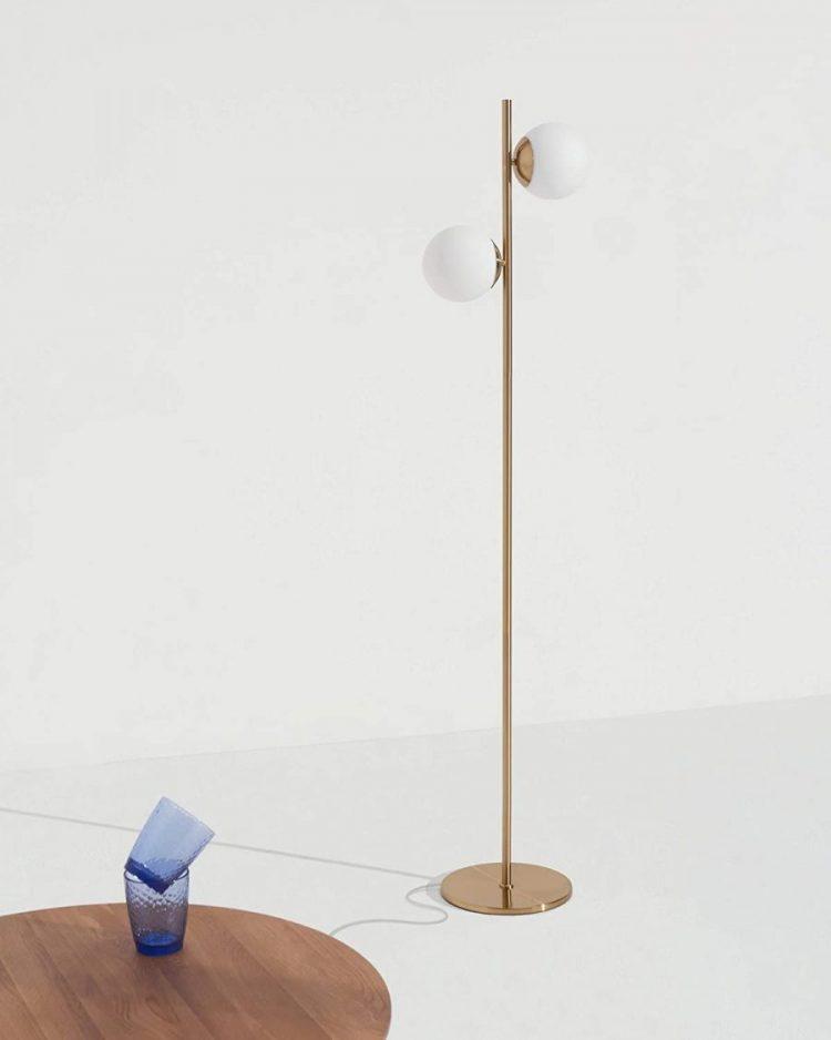 globe floor lamp mid century modern floor lamp