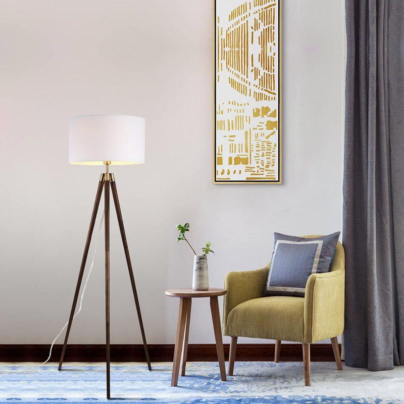 tripod lamp mid century modern floor lamp