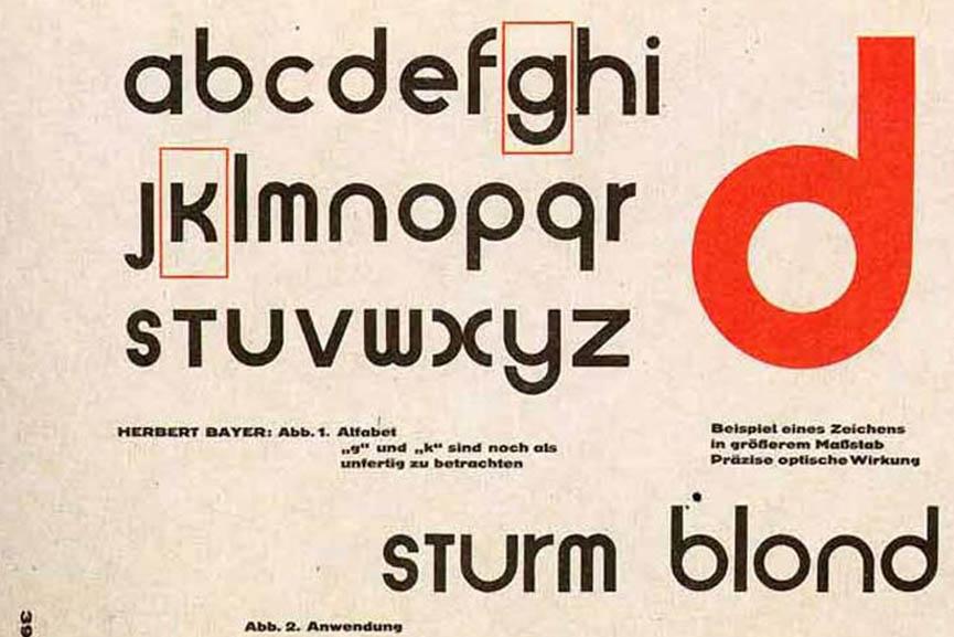 universal alphabet herbert bayer bauhaus