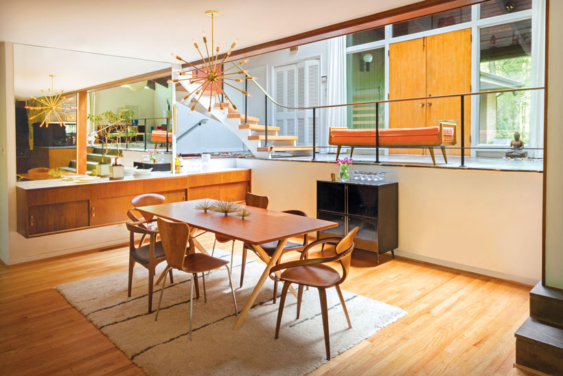 1959 Vintage Mid Century Modern Utopia, Mid Century Dining Room