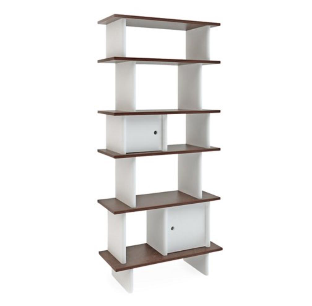 mid century modern storage bookshelf