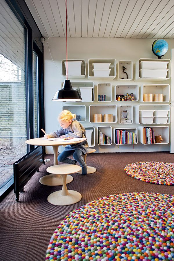 mid century modern kids study