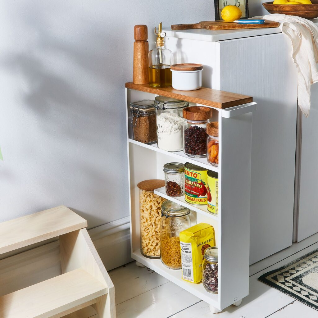 mid century modern storage slim cabinet
