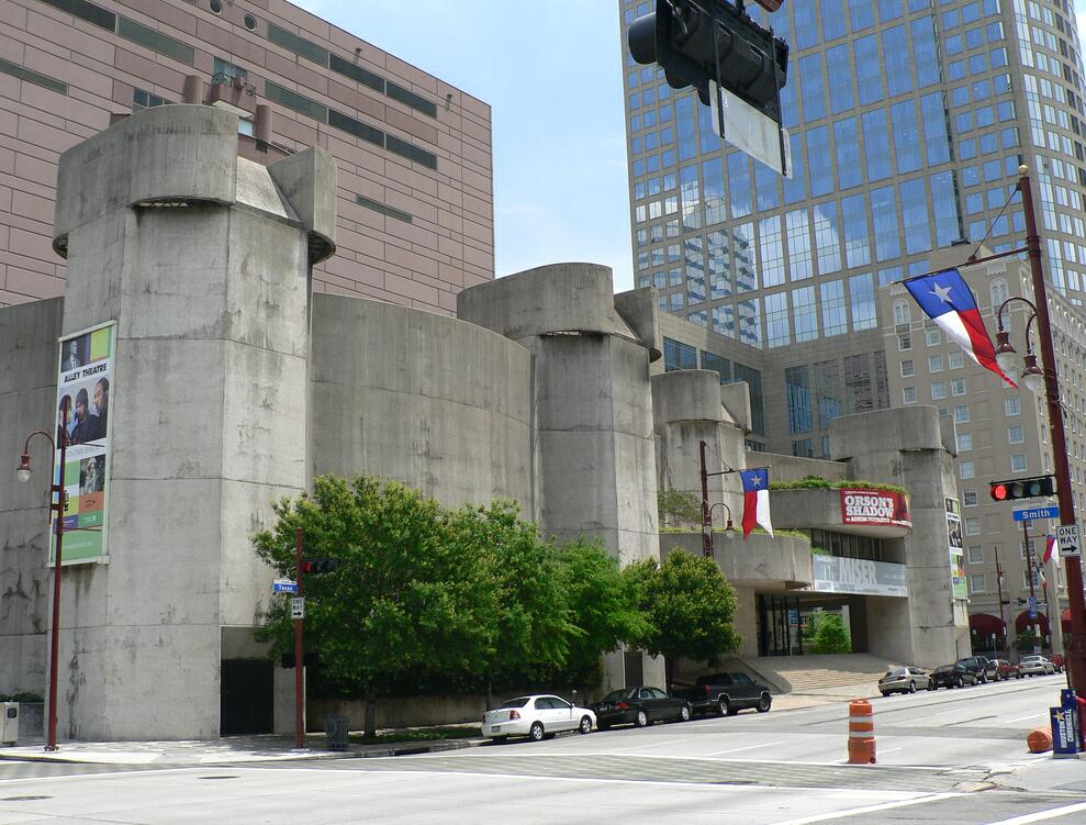 Alley Theater Houston designed by Ulrich Franzen