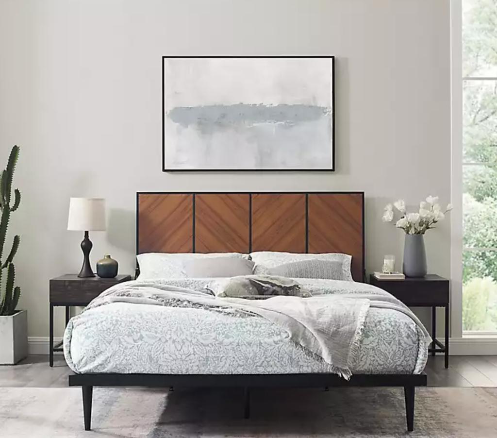 mid century modern bed frames kirkland