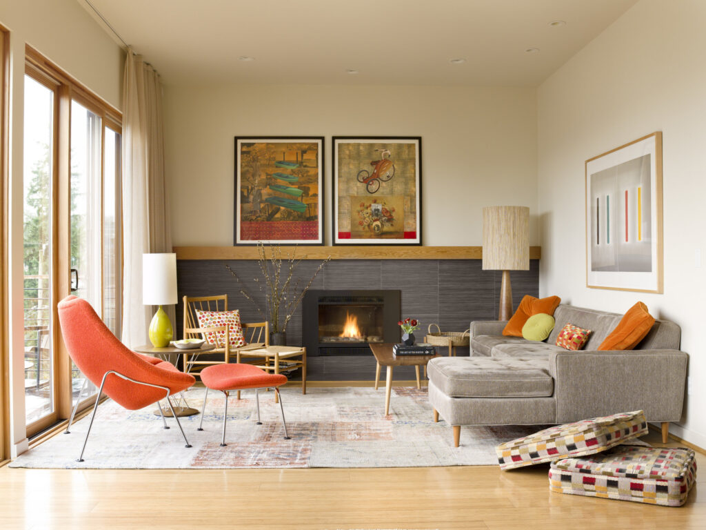 Colorful MCM living room