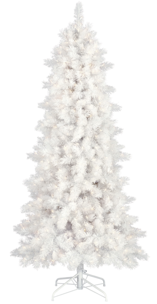 White faux Christmas tree