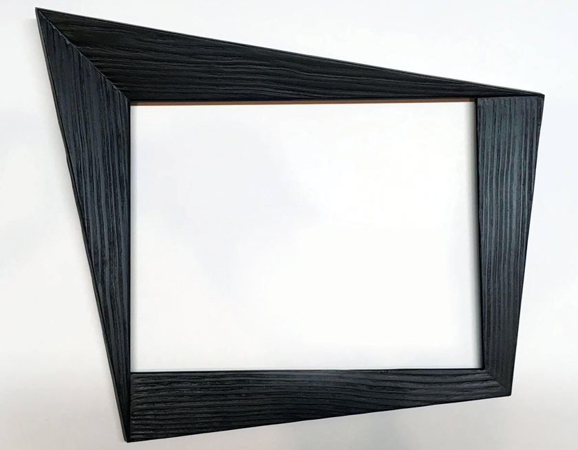 "Forced perspective black frame inspired by ""Carlo of Hollywood"" frames"