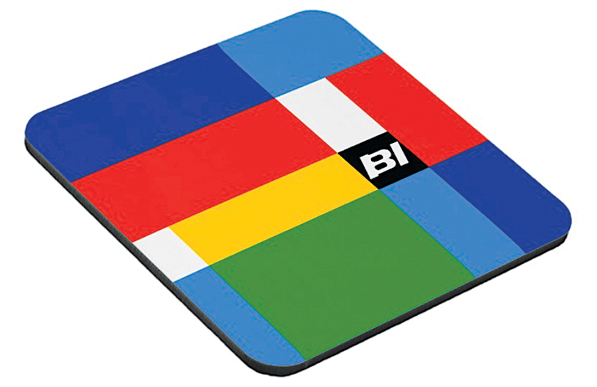 colorful drink coasters