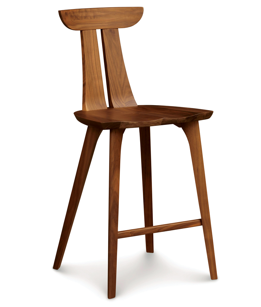 wood MCM counter stool for Usonian home