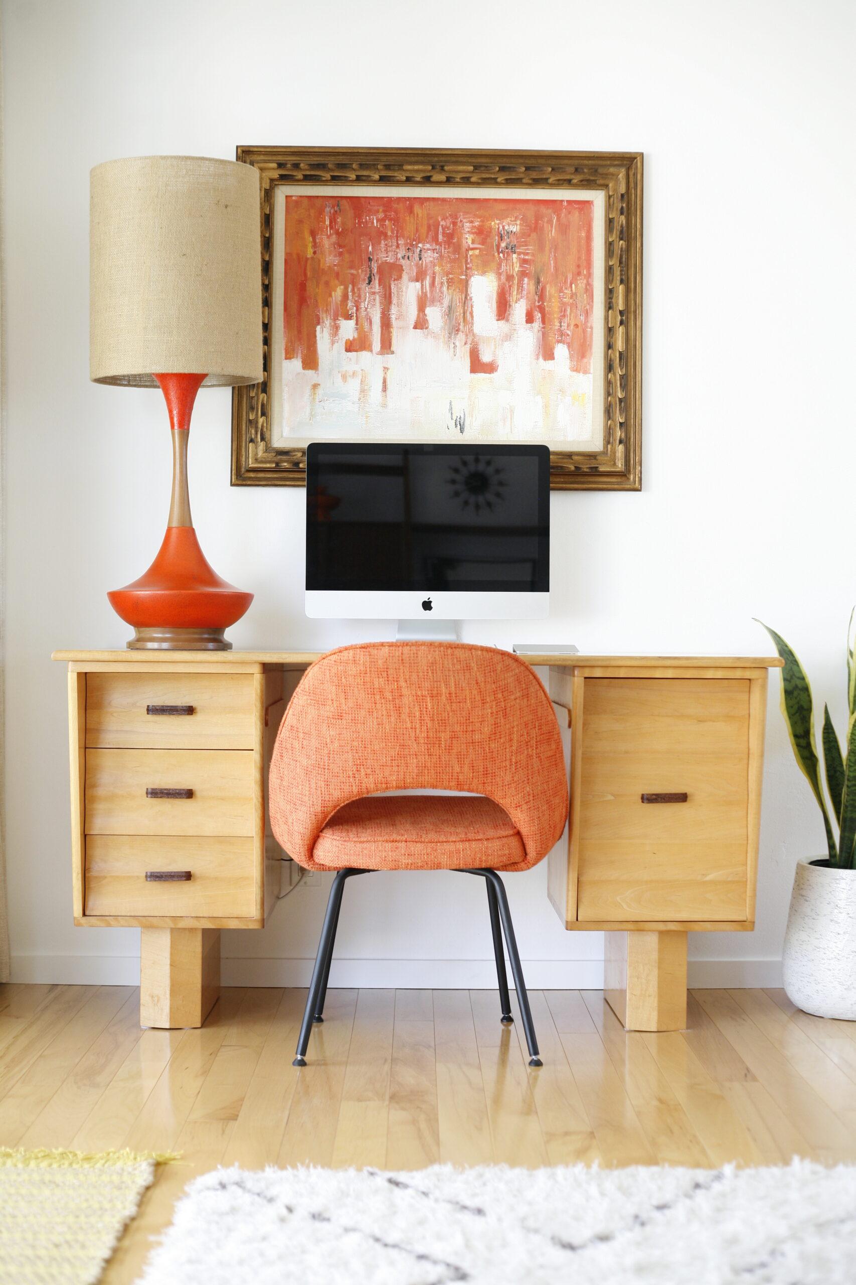 modern home office orange