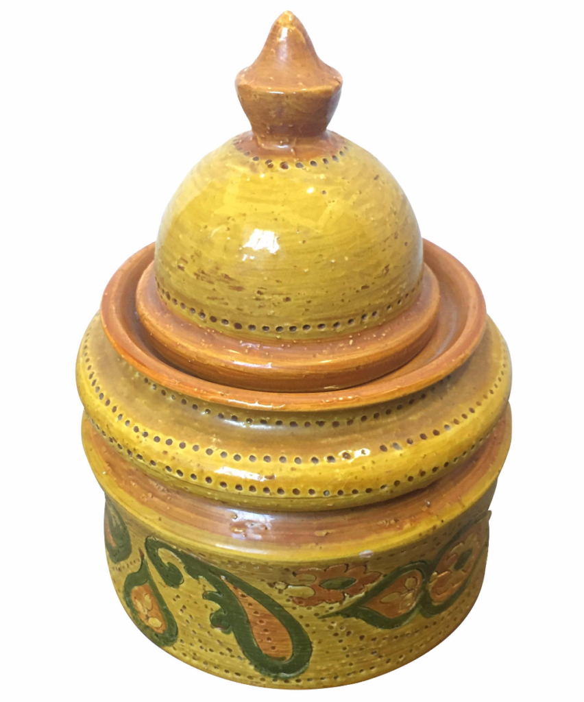 Vintage Aldo Londi for Bitossi Tobacco Jar