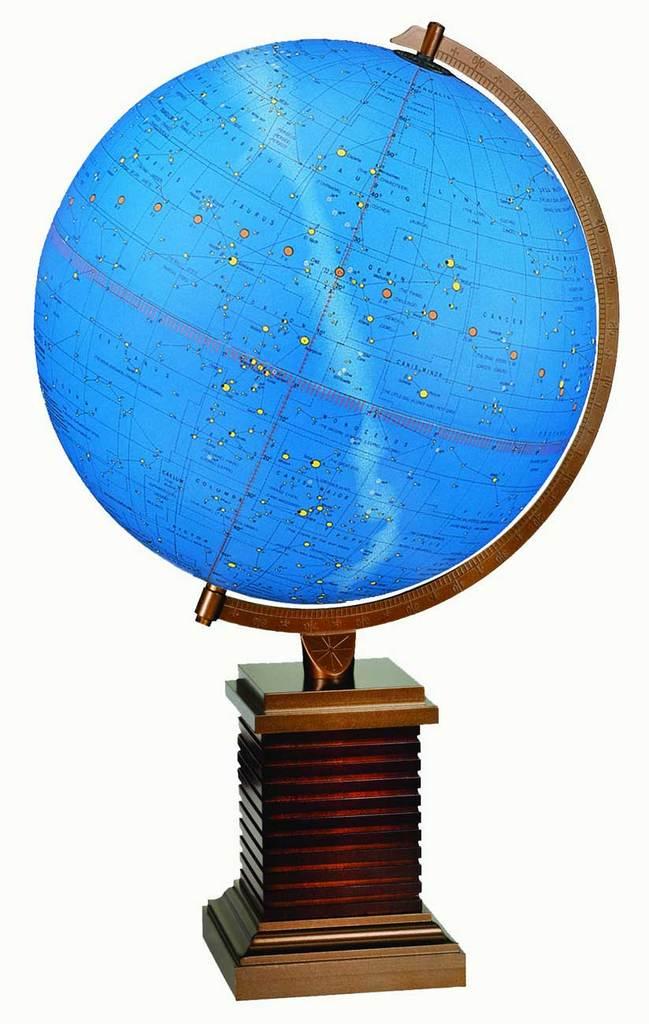 constellation globe inspired by Frank Lloyd Wright