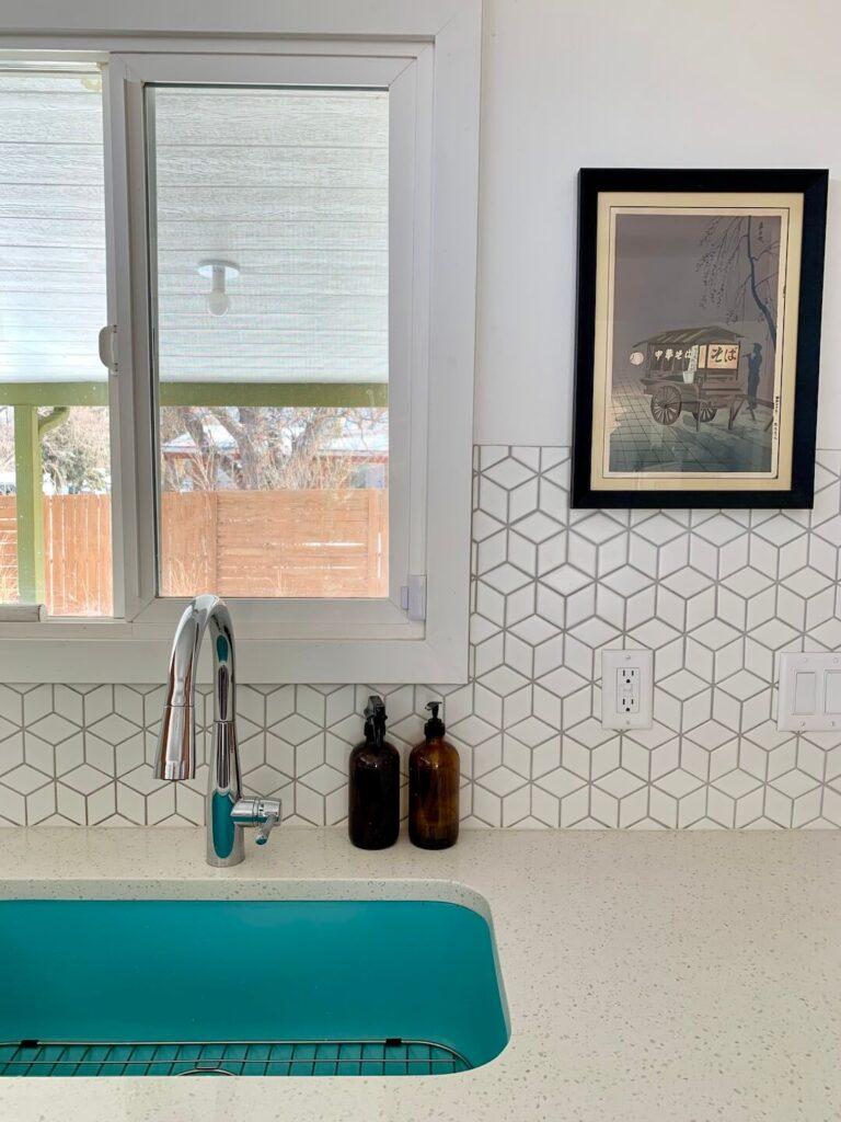 Harvey Park kitchen turquoise sink