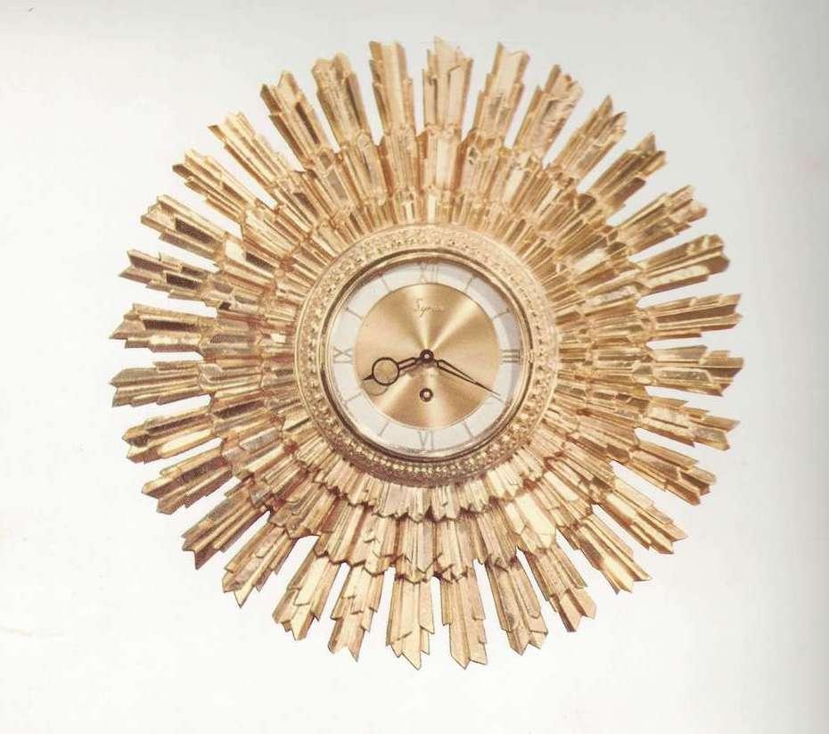 Syroco Sunburst Clock