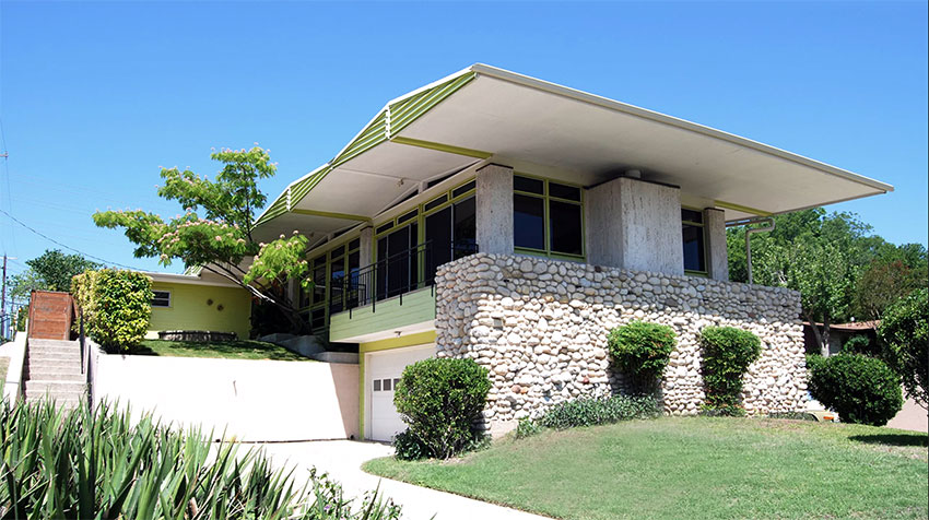 Mid century modern home by John Chase in Austin