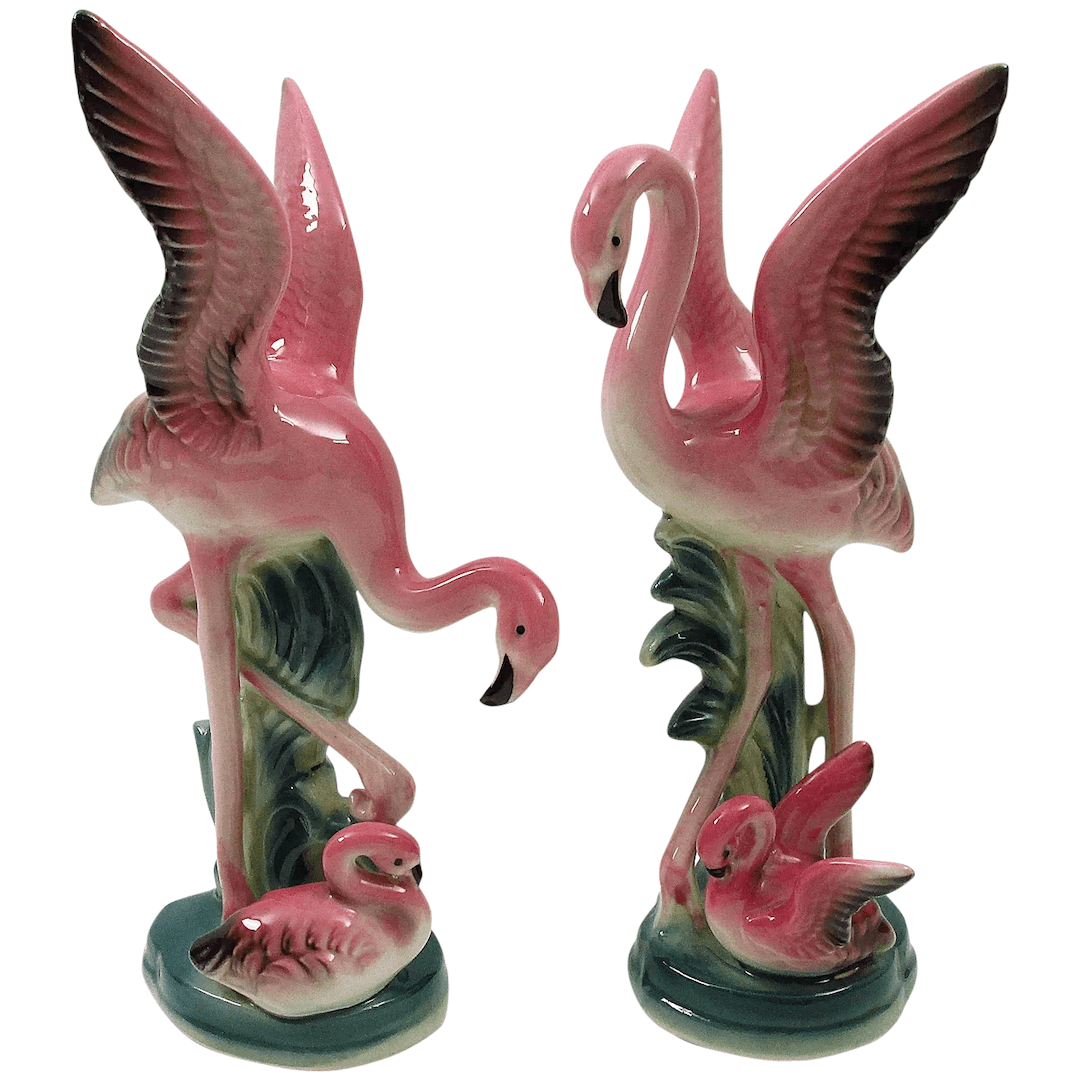 vintage Flamingo figurines Ruby Lane
