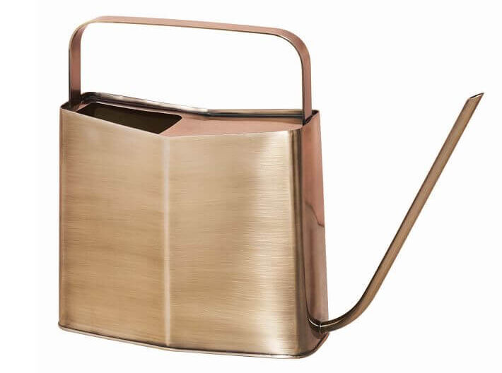Brass square shaped watering can