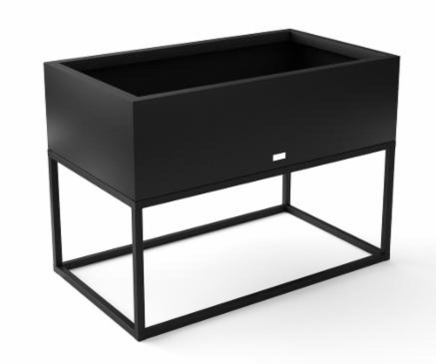 Black metallic raised garden bed