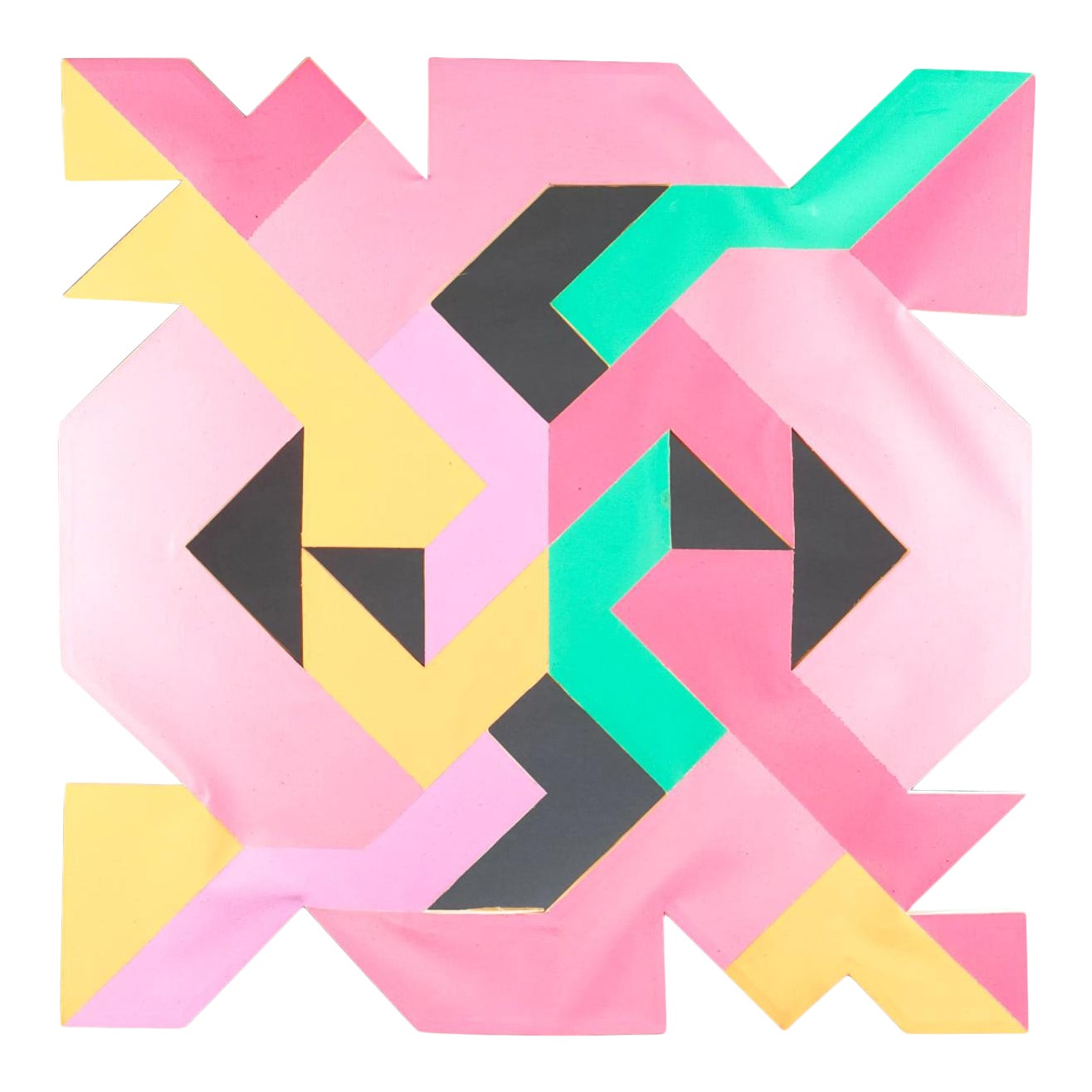 geometric hard-edged mcm painting