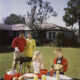 mid century family barbeque